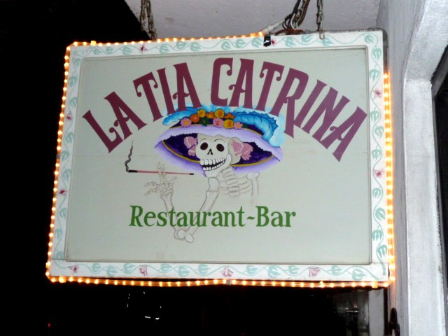 La Tia Catrina on restaurant row in puerto vallarta